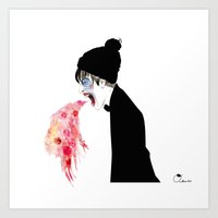 Art Print featuring Jealousy Snaking Up Again by Olive Primo Design + Illustration