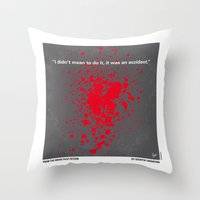 No067 My Pulp Fiction minimal movie poster Throw Pillow