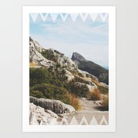 Follow The Mountains Art Print