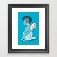 Angel Hawk Avenger Framed Art Print