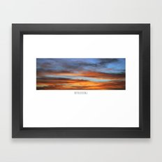 SKY WINDOW Framed Art Print