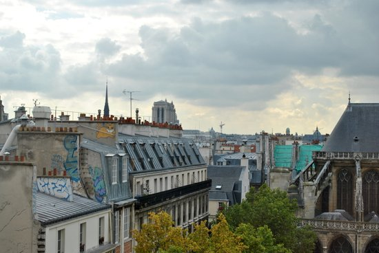 paris roof tops Art Print