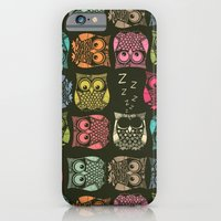 iPhone & iPod Case featuring sherbet owls by Sharon Turner