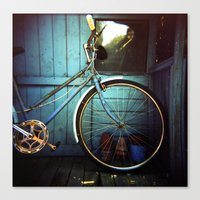 Bluebell The Blue Bicycl… Canvas Print
