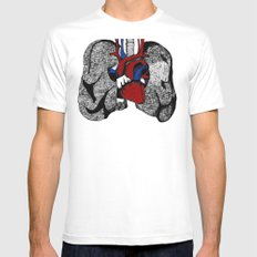 Heart&Lungs Mens Fitted Tee White SMALL