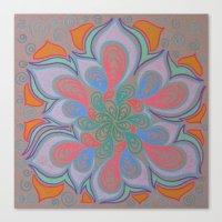 Drops And Petals 3 Canvas Print