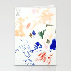 Abstract Multicolor Paint Stationery Cards