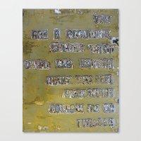 Pickup Lines - Golden Ba… Canvas Print