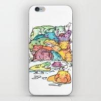 Hippo family iPhone & iPod Skin