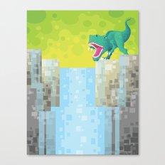 Dino Falls Canvas Print