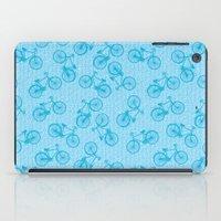 Blue Bicycle Pattern iPad Case