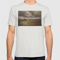 Storm Fields Mens Fitted Tee Silver SMALL