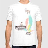 Gazelles Make Bad Friend… Mens Fitted Tee White SMALL