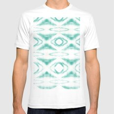 BOHEMIAN MINT PATTERN SMALL Mens Fitted Tee White