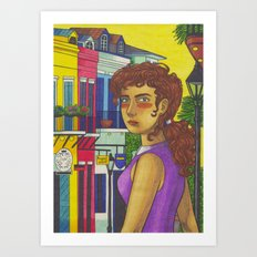 Sunny Day in New Orleans Art Print