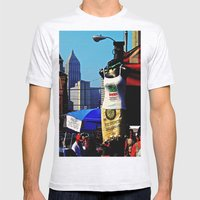 Strip District Model Mens Fitted Tee Ash Grey SMALL