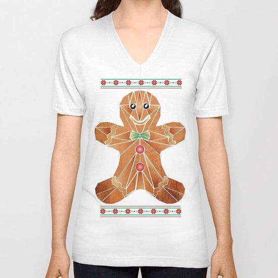 gingerbread man V-neck T-shirt
