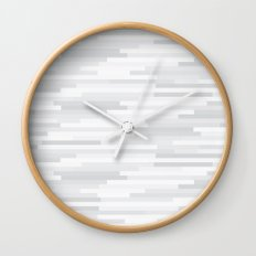 White Estival Mirage Wall Clock