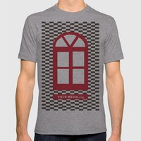 Red Window Mens Fitted Tee Athletic Grey SMALL