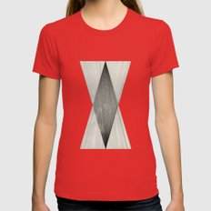 Intersect Womens Fitted Tee Red SMALL
