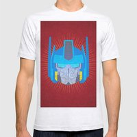Optimus Mens Fitted Tee Ash Grey SMALL