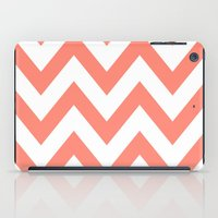 CORAL CHEVRON iPad Case