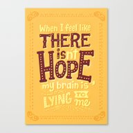 There Is Hope Canvas Print