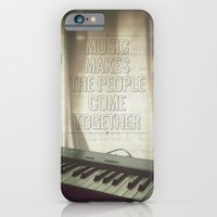 iPhone & iPod Case featuring Music makes the people come together by Alfredo Lietor