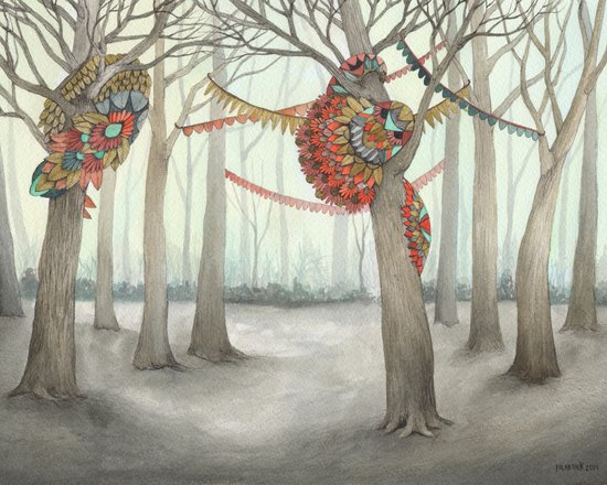 In the Quilted Forest I  Art Print