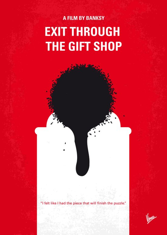 No130 My Exit Through the Gift Shop minimal movie poster Art Print