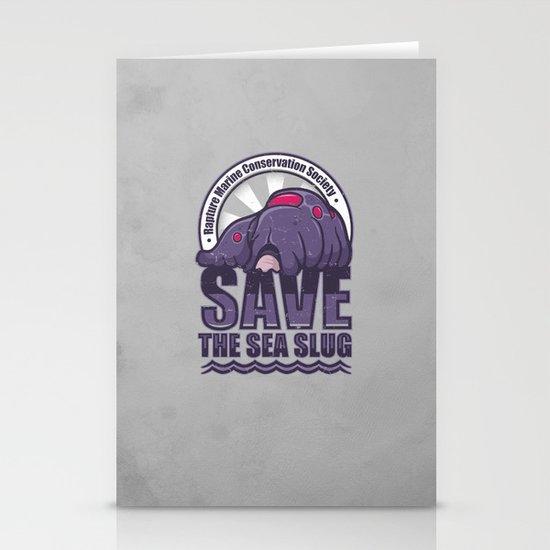 Save The Sea Slug Stationery Card