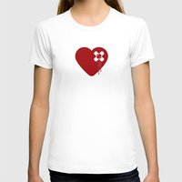 Heart Broken Womens Fitted Tee White SMALL
