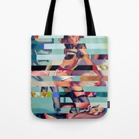 Glitch Pin-Up: Randi Tote Bag