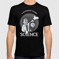 A HUNDRED YEARS SCIENCE Mens Fitted Tee Black SMALL