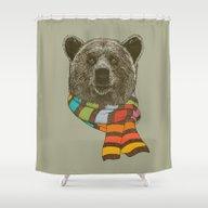 Winter Bear Shower Curtain
