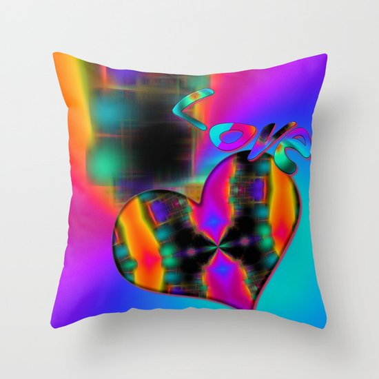 Love in Color Throw Pillow