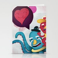 Pushing Love Like Pimps Stationery Cards