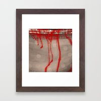 Cup Of Blood (detail) Framed Art Print
