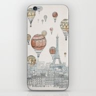 Voyages Over Paris iPhone & iPod Skin