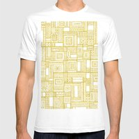 Golden Doodle Patchwork Mens Fitted Tee White SMALL