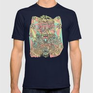 The Functioning Parts Mens Fitted Tee Navy SMALL