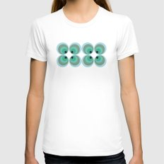 MCM Sphere Womens Fitted Tee White SMALL