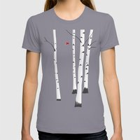 Birches Womens Fitted Tee Slate SMALL