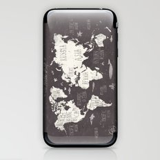 The World Map iPhone & iPod Skin