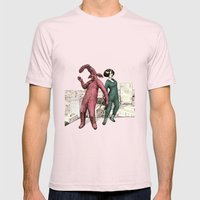 Dancing on the roof Mens Fitted Tee Light Pink SMALL