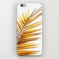 golden palm leaf II iPhone & iPod Skin