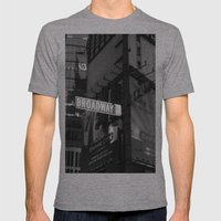 Broadway & W42nd St Mens Fitted Tee Athletic Grey SMALL