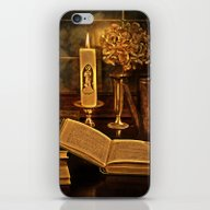 Old Books And Candle iPhone & iPod Skin