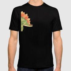 Stegosaurus Mens Fitted Tee Black SMALL