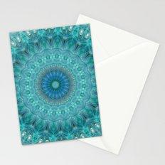 Mandala luminous Opal Stationery Cards